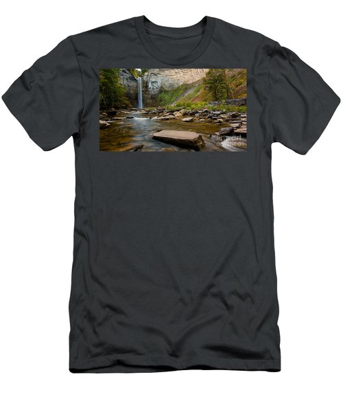 Early Autumn Morning At Taughannock Falls Men's T-Shirt (Athletic Fit)