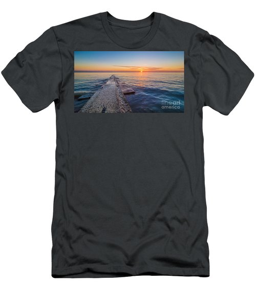 Early Breakwater Sunrise Men's T-Shirt (Athletic Fit)