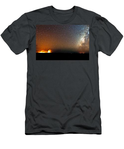 Earth And Cosmos Men's T-Shirt (Athletic Fit)
