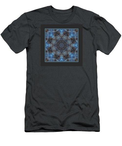 Men's T-Shirt (Slim Fit) featuring the digital art Earth Mandala by I'ina Van Lawick