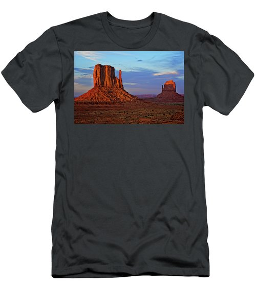 East And West Mitten Buttes In Monument Men's T-Shirt (Athletic Fit)