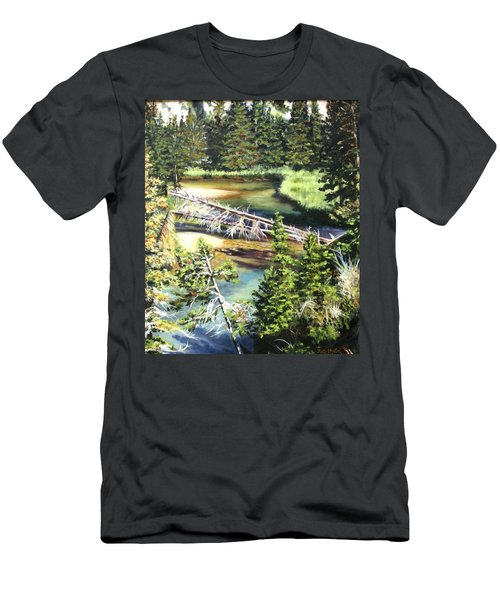 East Rosebud Inlet Stream Men's T-Shirt (Slim Fit) by Patti Gordon