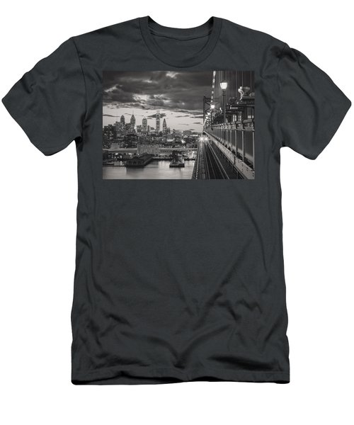 Eastbound Encounter In Black And White Men's T-Shirt (Athletic Fit)