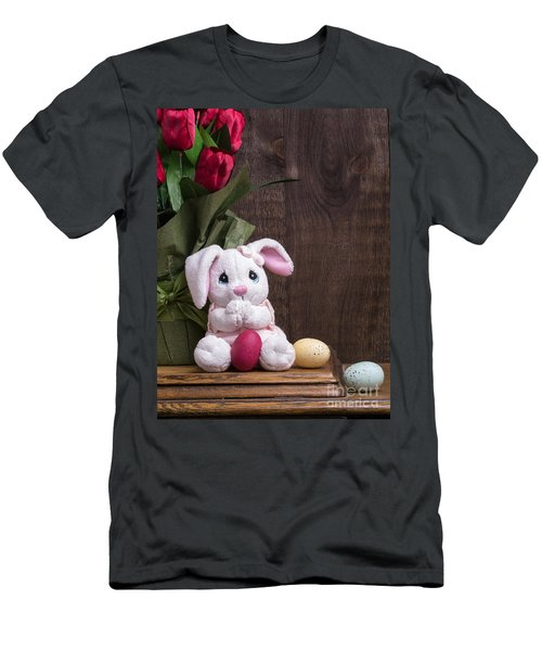 Easter Bunny Card Men's T-Shirt (Athletic Fit)