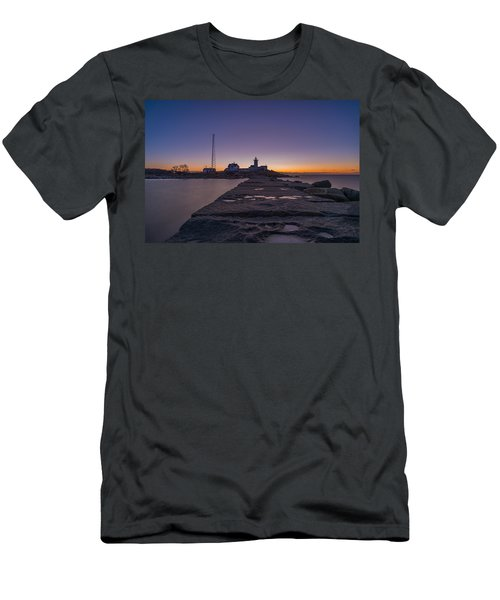 Eastern Point Lighthouse Just Before Sunrise Gloucester Ma Men's T-Shirt (Athletic Fit)