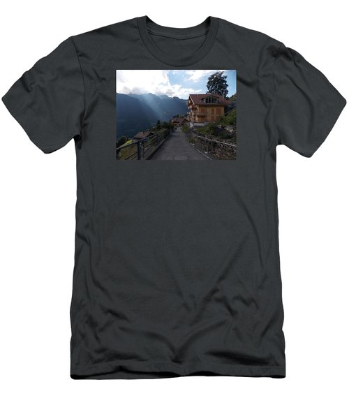 Edge Of Wengen Men's T-Shirt (Athletic Fit)