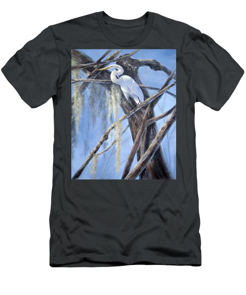 Egret Perch Men's T-Shirt (Athletic Fit)