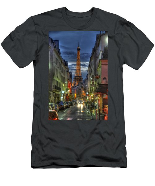 Eiffel Over Paris Men's T-Shirt (Athletic Fit)