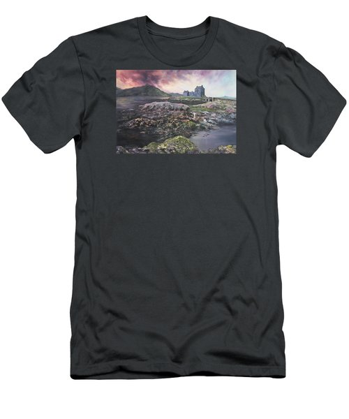 Men's T-Shirt (Slim Fit) featuring the painting Eilean Donan Castle Scotland by Jean Walker