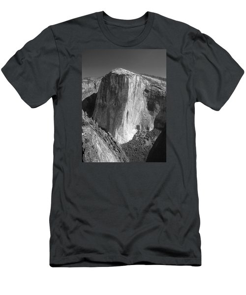 106663-el Capitan From Higher Cathedral Spire, Bw Men's T-Shirt (Athletic Fit)