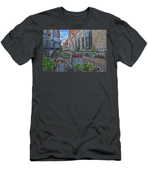 Elburg Alley Men's T-Shirt (Slim Fit) by Frans Blok