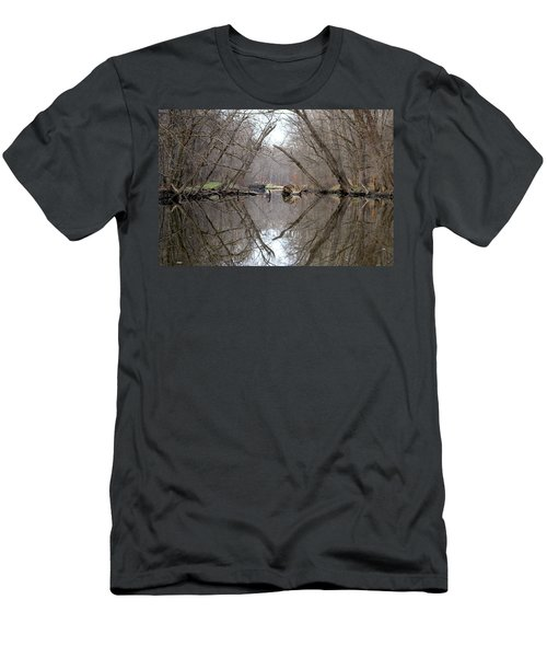 Men's T-Shirt (Slim Fit) featuring the photograph Eldon's Reflection by Bruce Patrick Smith