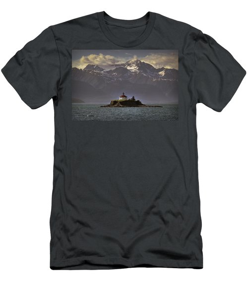 Eldred Rock Lighthouse Alaska Men's T-Shirt (Athletic Fit)