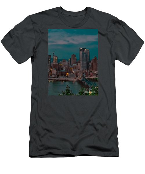Electric Steel City Men's T-Shirt (Athletic Fit)
