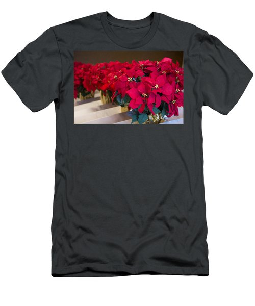 Elegant Poinsettias Men's T-Shirt (Athletic Fit)