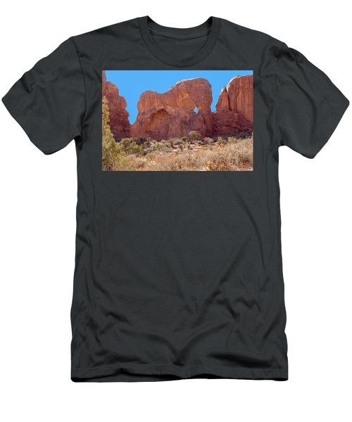 Men's T-Shirt (Athletic Fit) featuring the photograph Elephant In The Rock by John M Bailey