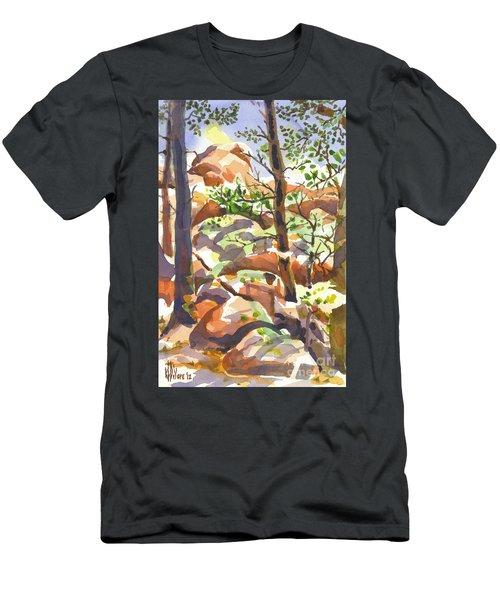 Elephant Rocks Revisited II Men's T-Shirt (Athletic Fit)