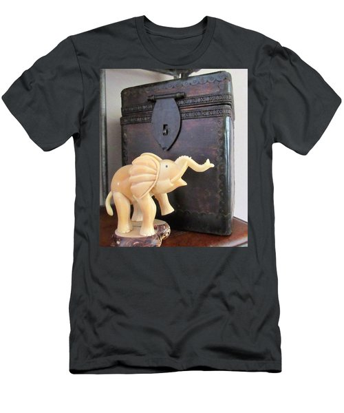 Elephant With Elephant Box Men's T-Shirt (Athletic Fit)