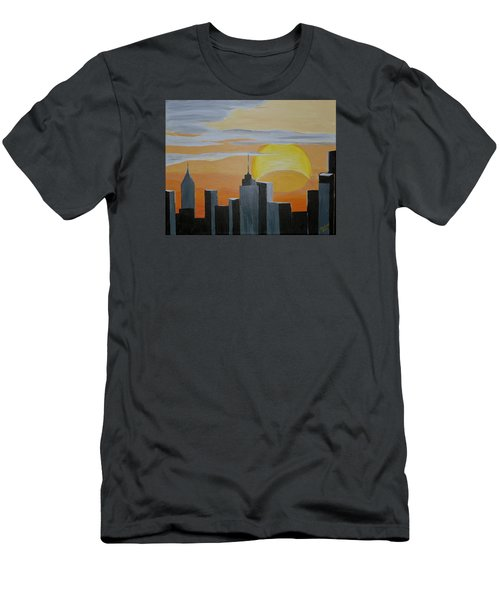 Elipse At Sunrise Men's T-Shirt (Slim Fit) by Donna Blossom
