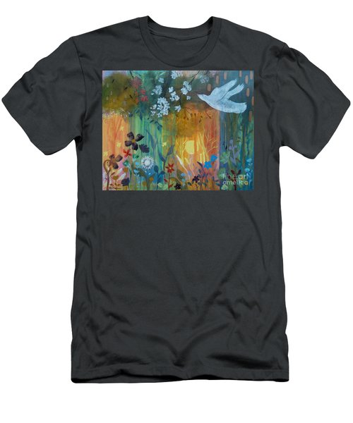 Men's T-Shirt (Slim Fit) featuring the painting Encantador by Robin Maria Pedrero