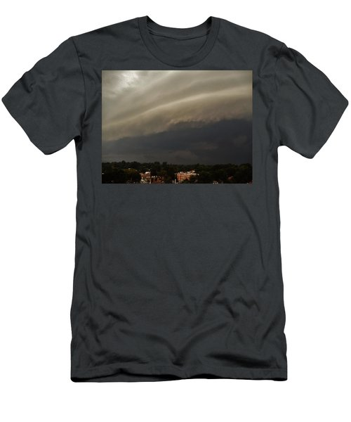 Men's T-Shirt (Slim Fit) featuring the photograph Encroaching Shelf Cloud by Ed Sweeney