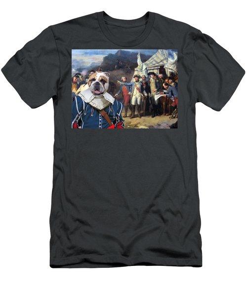 English Bulldog Art Canvas Print - The Battle Plan Men's T-Shirt (Athletic Fit)