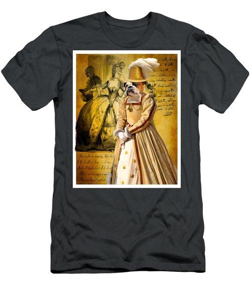 English Bulldog Art Canvas Print  Men's T-Shirt (Athletic Fit)