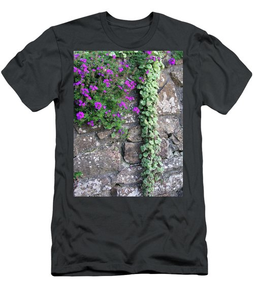 English Garden Wall Men's T-Shirt (Athletic Fit)