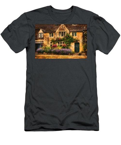 English Stone Cottage Men's T-Shirt (Athletic Fit)