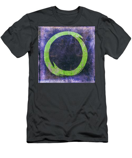 Enso No. 108 Green On Purple Men's T-Shirt (Athletic Fit)