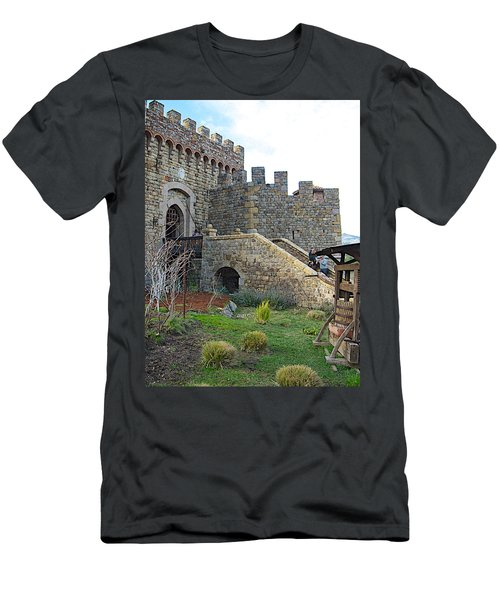 Entrance To Castello Di Amorosa In Napa Valley-ca Men's T-Shirt (Athletic Fit)