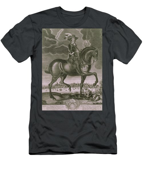 Equestrian Portrait Of Oliver Cromwell  Men's T-Shirt (Athletic Fit)