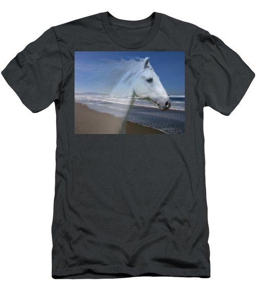 Equine Shores Men's T-Shirt (Slim Fit) by Athena Mckinzie