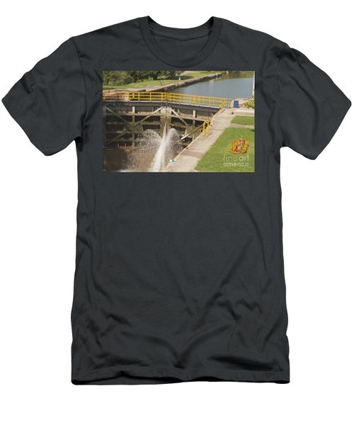 Men's T-Shirt (Slim Fit) featuring the photograph Erie Canal Lock by William Norton