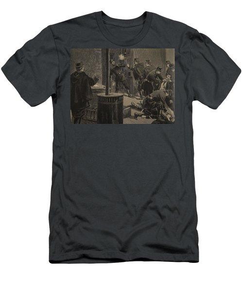 Etievant, The Anarchist Shoots Men's T-Shirt (Athletic Fit)