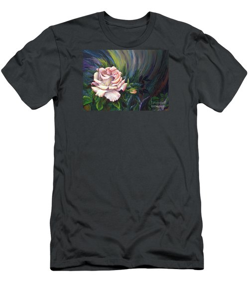 Men's T-Shirt (Athletic Fit) featuring the painting Evangel Of Hope by Nancy Cupp