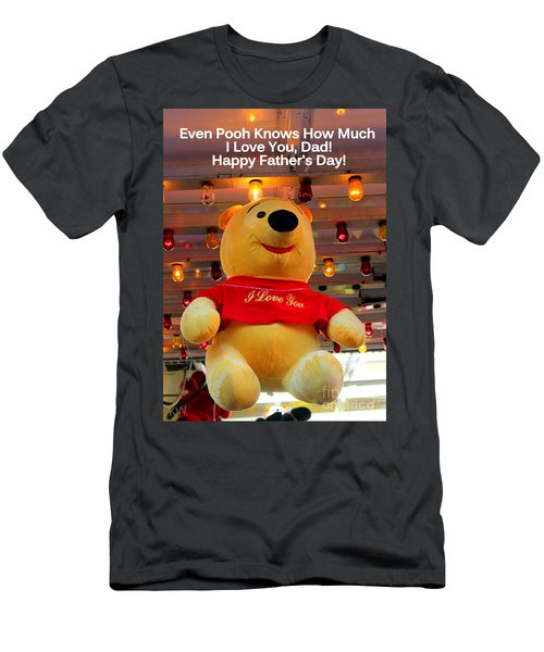 Even Pooh Knows Card Men's T-Shirt (Athletic Fit)
