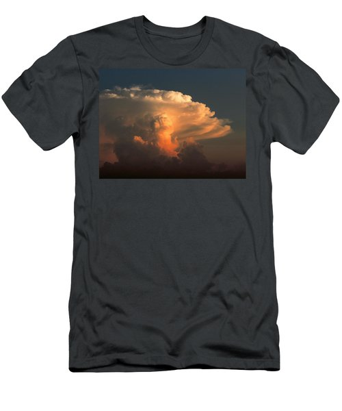 Men's T-Shirt (Slim Fit) featuring the photograph Evening Buildup by Charlotte Schafer