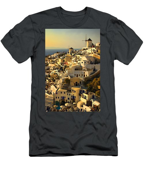 evening in Oia Men's T-Shirt (Athletic Fit)