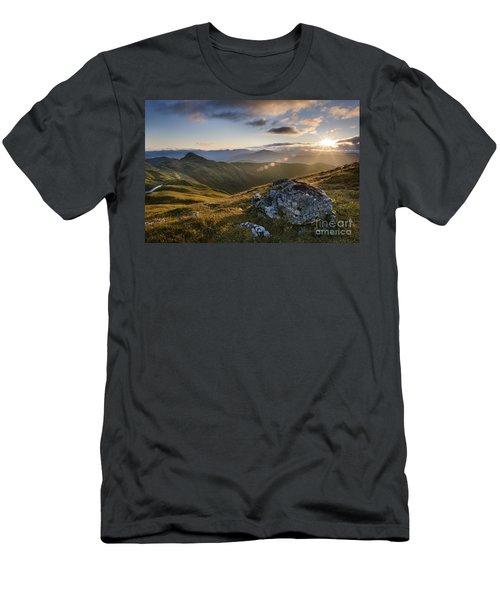 Evening Light From Meall Nan Tarmachan - Scotland Men's T-Shirt (Athletic Fit)