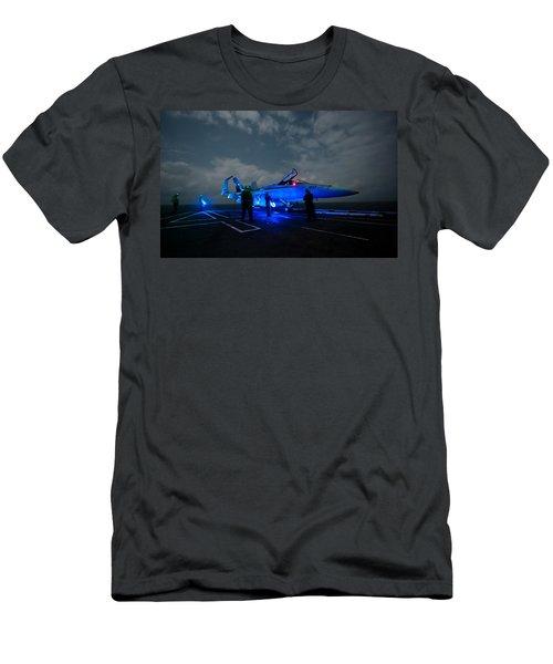 Evening On The Flight Deck Men's T-Shirt (Athletic Fit)