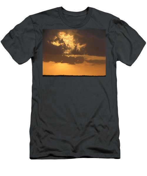 Men's T-Shirt (Slim Fit) featuring the photograph Evening Over Lake George by Fortunate Findings Shirley Dickerson