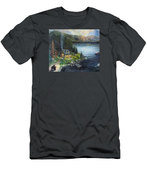 Evening Visitors Men's T-Shirt (Slim Fit) by Donna Tucker