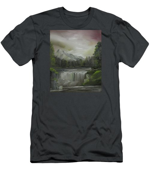 Evening Waterfalls Men's T-Shirt (Athletic Fit)
