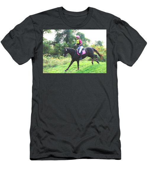 Eventing Pink Men's T-Shirt (Athletic Fit)