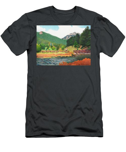 Evergreen Lake Spring Men's T-Shirt (Athletic Fit)