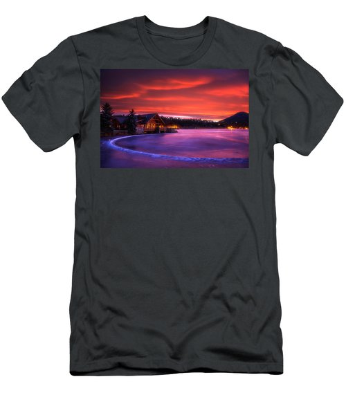 Evergreen Lake Sunrise Men's T-Shirt (Athletic Fit)