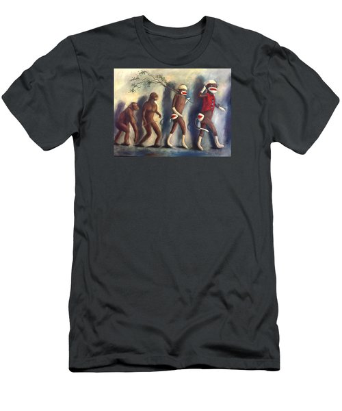 Men's T-Shirt (Slim Fit) featuring the painting Evolution by Randol Burns