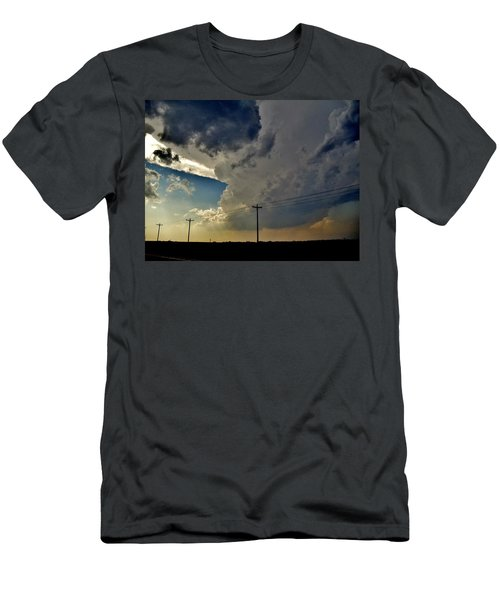 Men's T-Shirt (Slim Fit) featuring the photograph Explosive Texas Supercell by Ed Sweeney