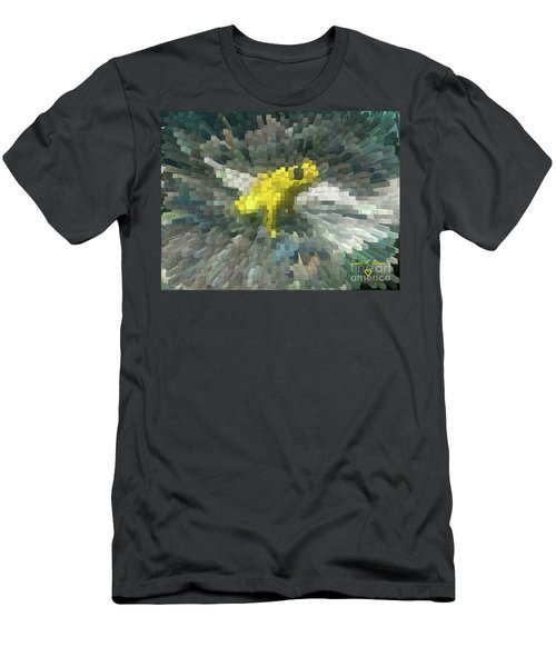 Men's T-Shirt (Slim Fit) featuring the photograph Extrude Yellow Frog by Donna Brown